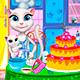 Говорящая кошка Анжела готовит торт