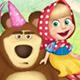 Маша и Медведь играют в переодевания