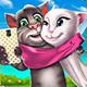 Селфи кота Тома и кошки Анжелы