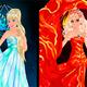Барби принцесса огня, воды и земли