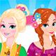 Весенние наряды Эльзы и Анны