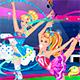 Барби и Дисней Принцессы гимнастки
