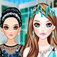 Макияж: Кристальные аксессуары для волос