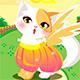 Котенок ангелочек - красивая одевалка