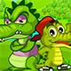 Огонь и вода для крокодильчиков на двоих