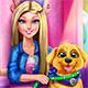 Барби тренирует щенка