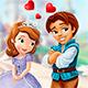 Поцелуи принцессы Софии и принца