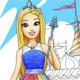Волшебный мир Барби - Онлайн раскраски